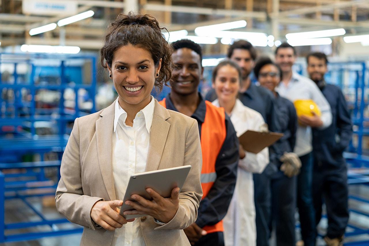 Industrial manufacturing team