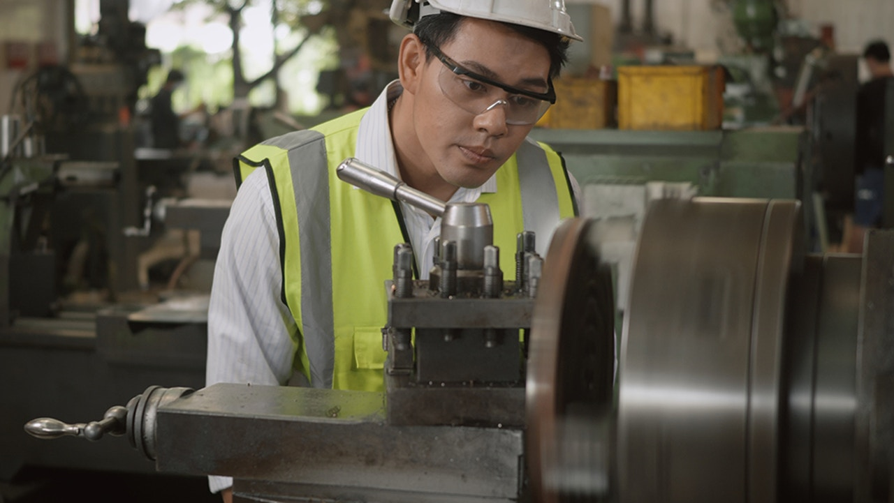 Industrial manufacturing worker