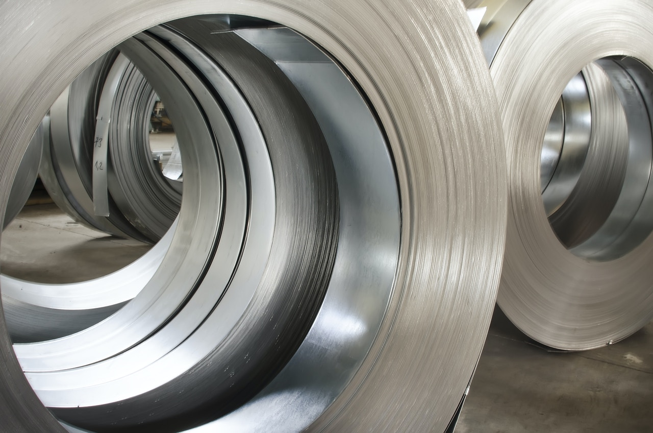 Coiled sheets of steel