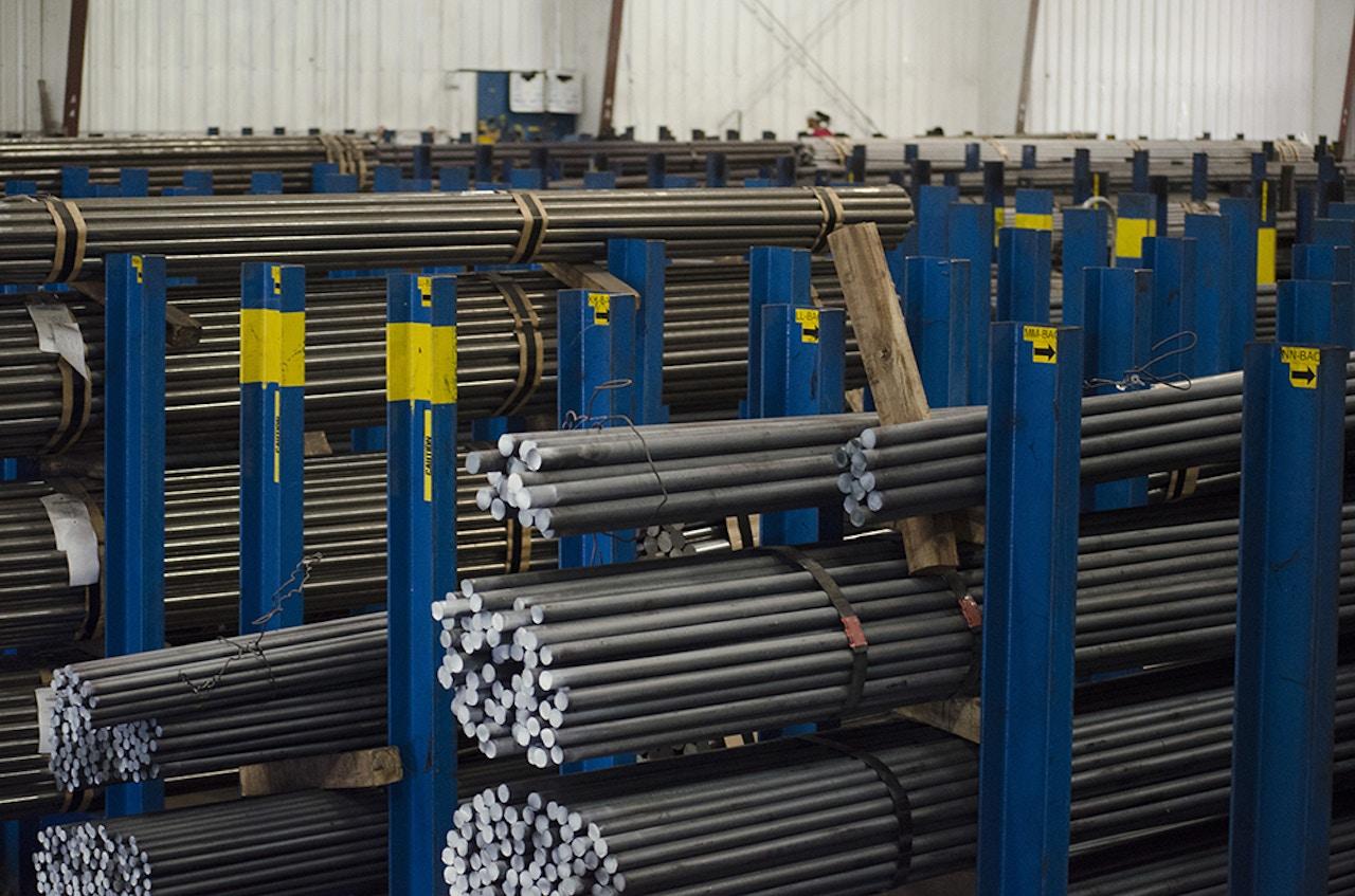 MW Components - Materials - Bar stock inventory