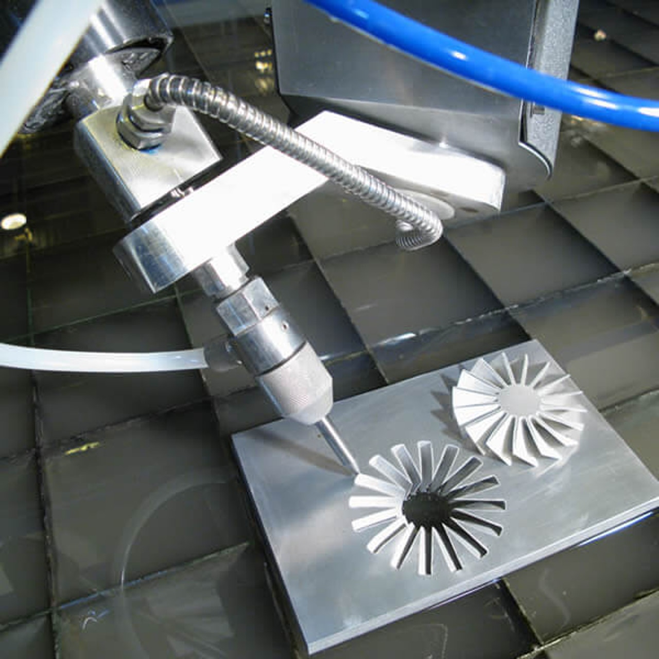 5-Axis waterjet cut component