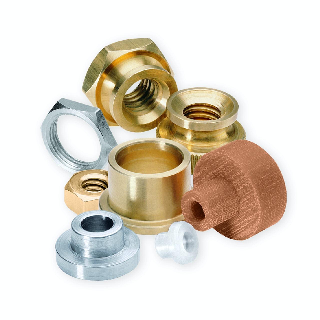 Custom fastener components - Threaded & clear-hole bushings