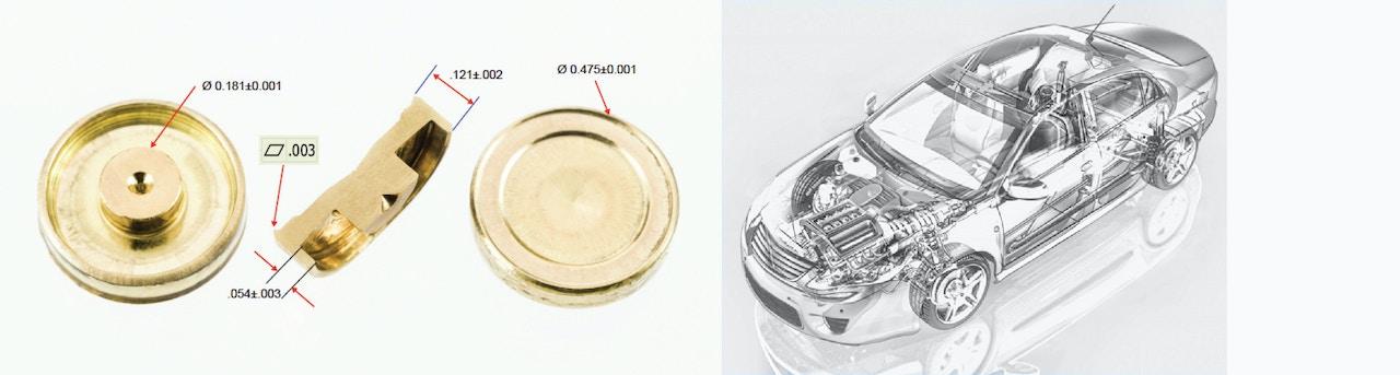 Custom components manufacturing - Automotive pressure regulator pin