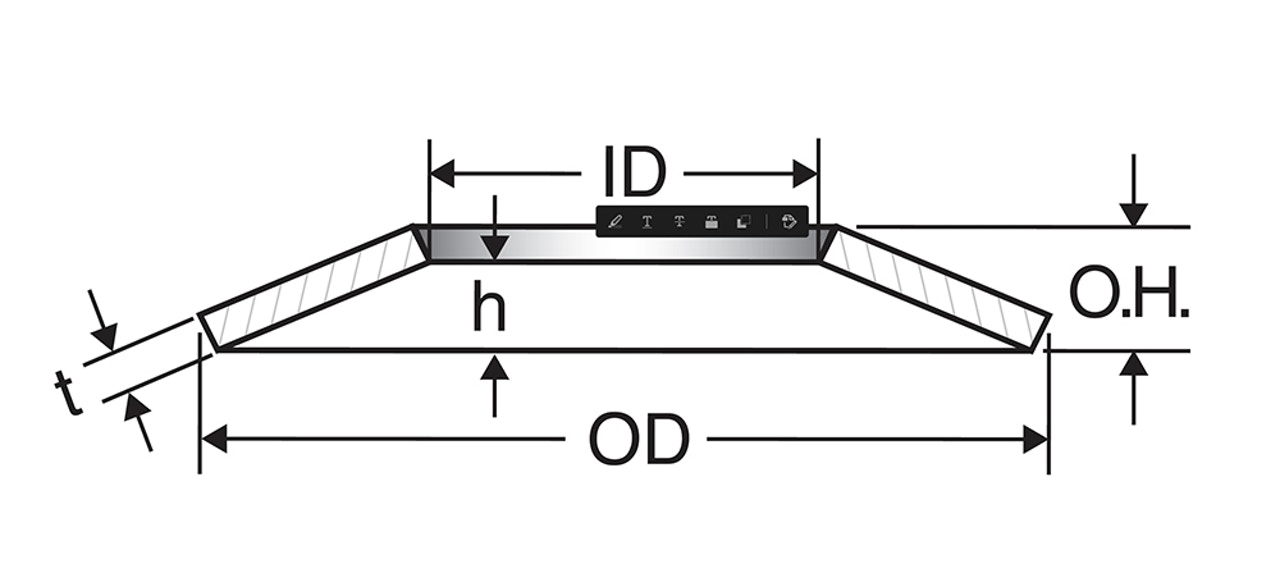 MW Components - Ball-bearing (BB) series disc spring diagram