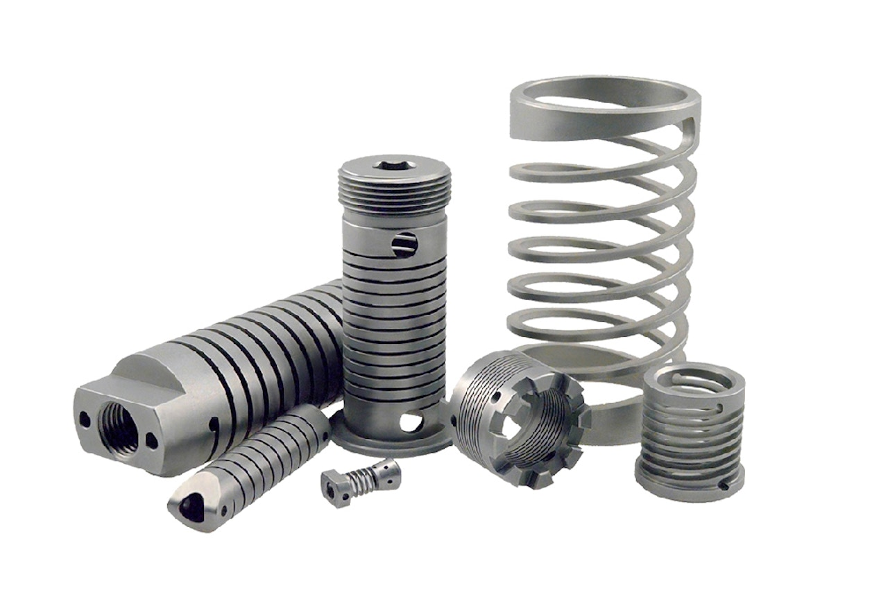 Custom spring components - Machined springs