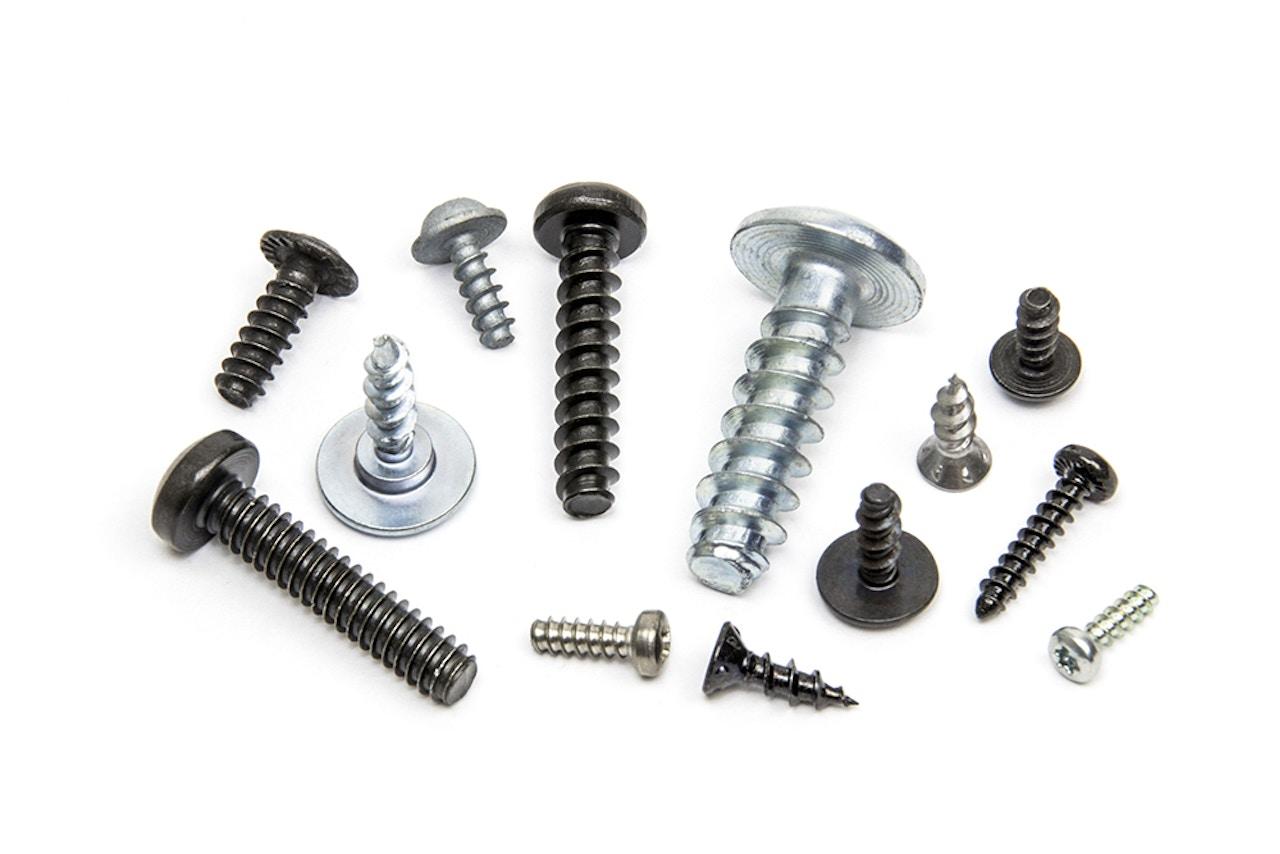 Custom fastener manufacturing - Screws for plastic - Wide-threaded screws