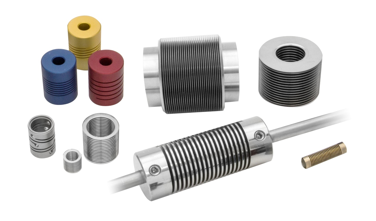 MW Components - Machined & bellows flexible shaft couplings