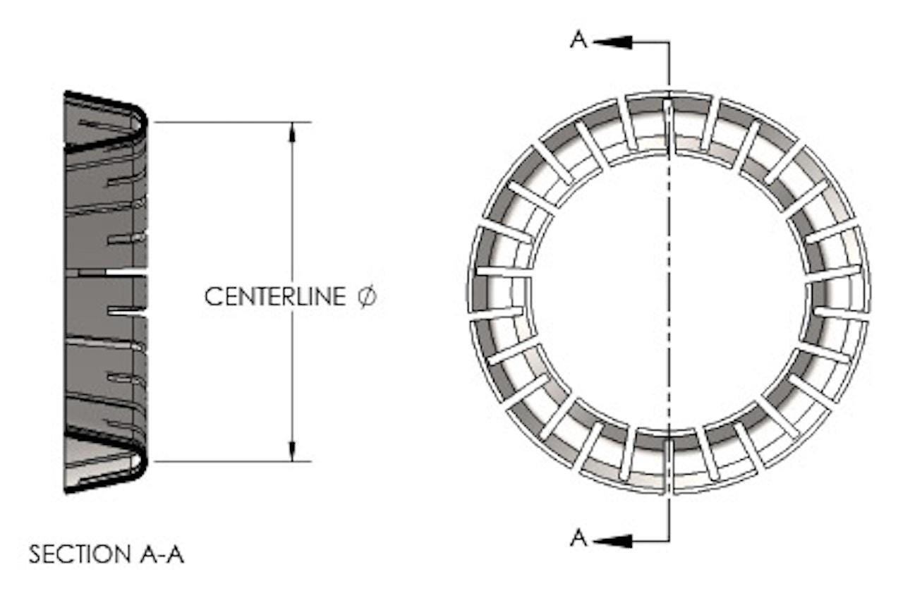 Spring Centerline Diagram-V-Spring