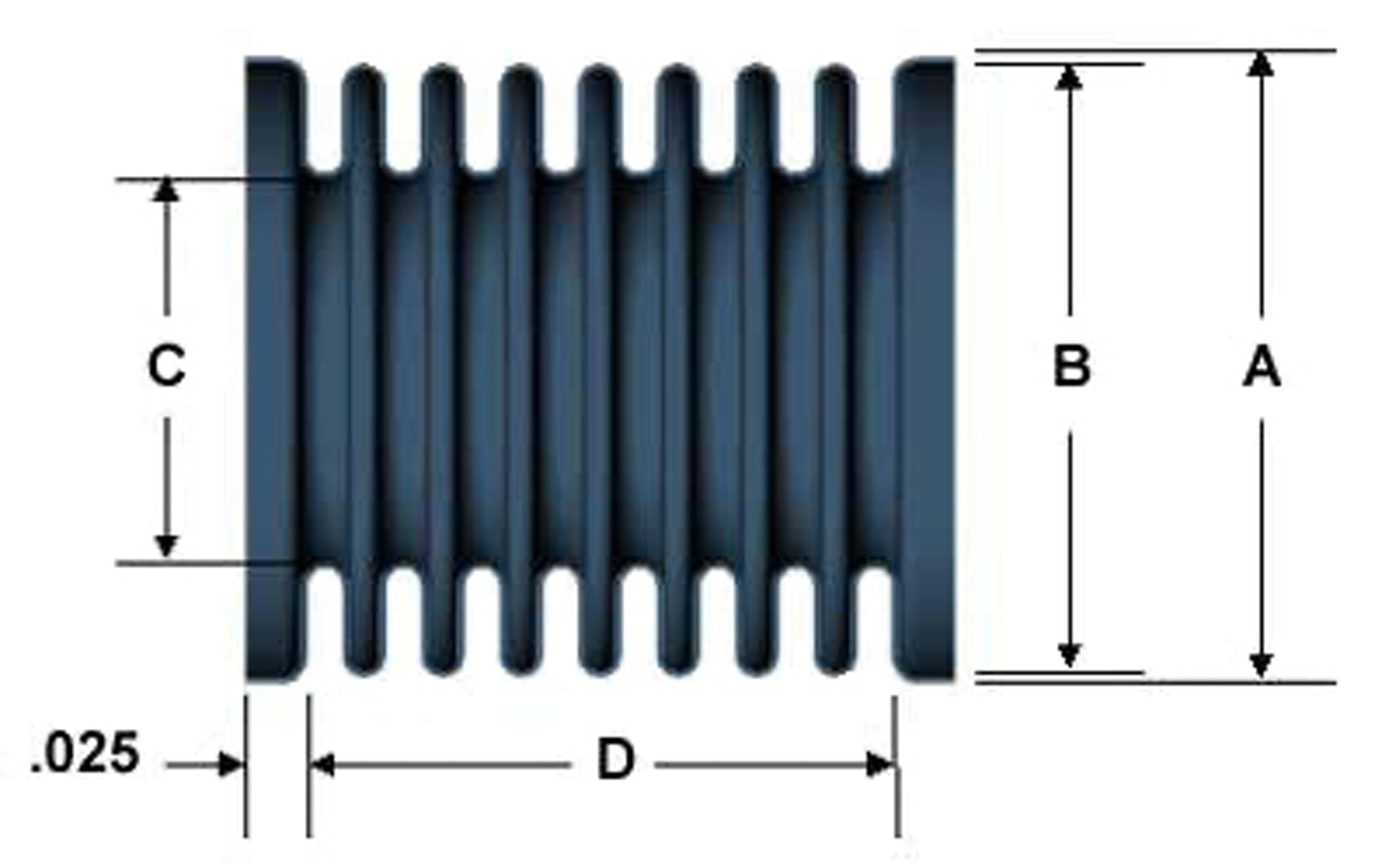 Electrodeposited bellows diagram