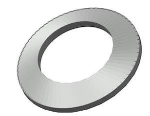 Light series serrated disc washer