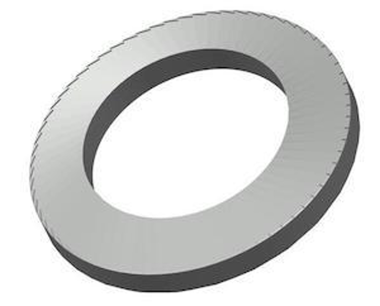 Reinforced serrated disc washer