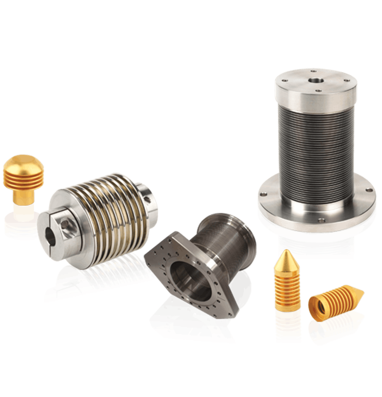 Semiconductor edge welded bellows
