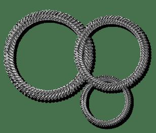Slant coil springs